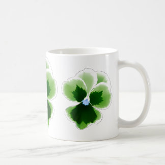Green Pansy Flower 201711d Coffee Mug
