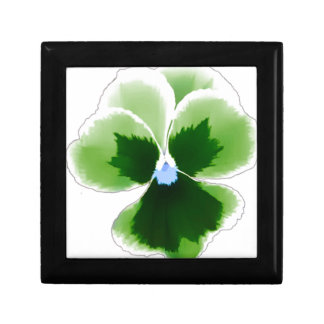 Green Pansy Flower 201711d Gift Box