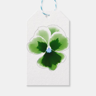 Green Pansy Flower 201711d Gift Tags