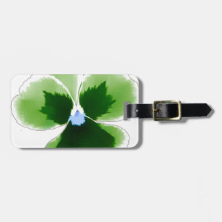 Green Pansy Flower 201711d Luggage Tag
