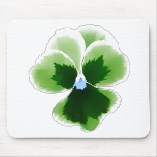 Green Pansy Flower 201711d Mouse Pad