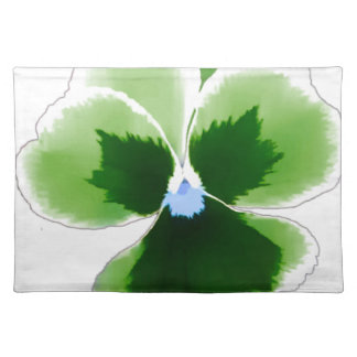 Green Pansy Flower 201711d Placemat