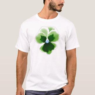 Green Pansy Flower 201711d T-Shirt