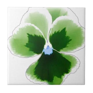 Green Pansy Flower 201711d Tile