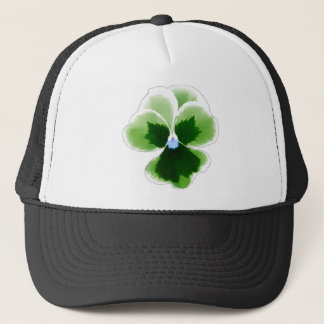 Green Pansy Flower 201711d Trucker Hat