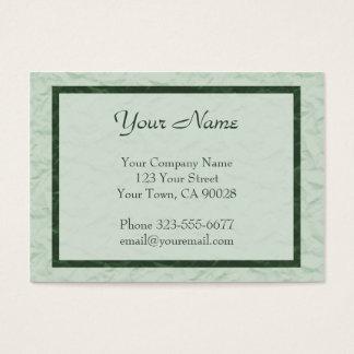 green Paper Texture border Business Card