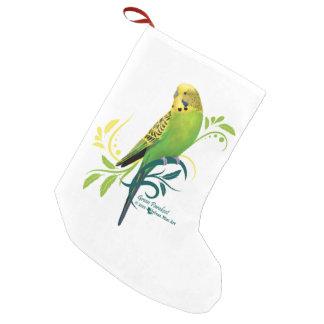 Green Parakeet Small Christmas Stocking
