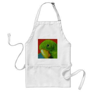 Green Parrot Adult Apron