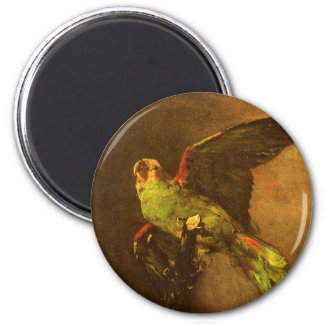Green Parrot by Vincent van Gogh, Vintage Fine Art 2 Inch Round Magnet