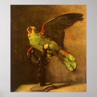 Green Parrot by Vincent van Gogh, Vintage Fine Art Poster