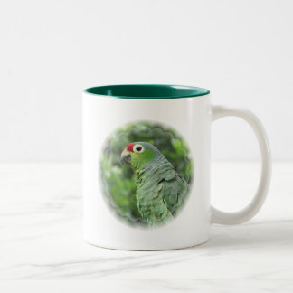 Green Parrot Ceramic Coffee Mug