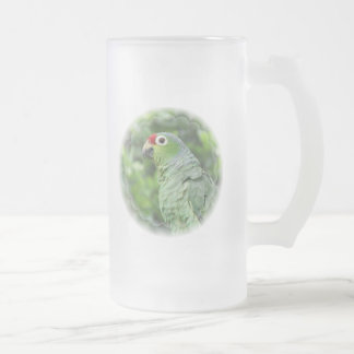 Green Parrot Frosted Beer Mug