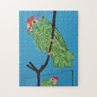 green parrot jigsaw puzzle