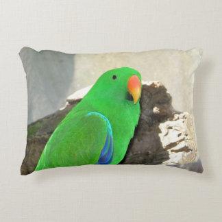 Green Parrot mousepad Accent Pillow