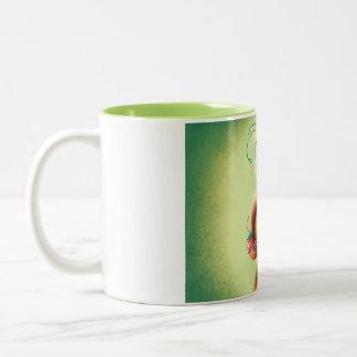 Green Parrot Two-Tone Coffee Mug