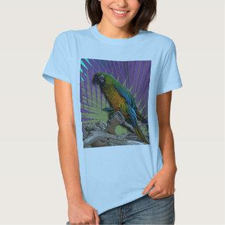 Green Parrot & Palms t-Shirt