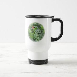 Green Parrot Plastic Travel Mug