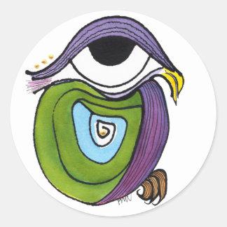 Green Parrot Sticker, Round Classic Round Sticker