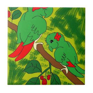 Green Parrot Tiles