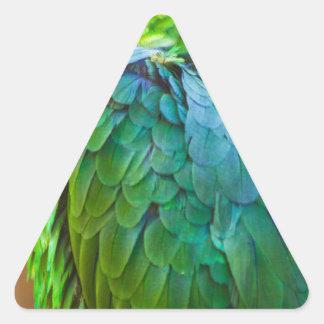 Green Parrot Triangle Sticker