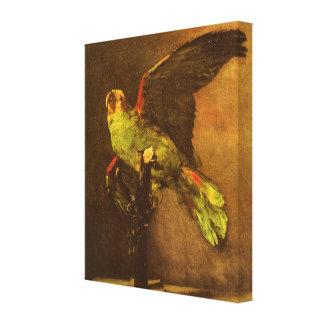Green Parrot, Vincent van Gogh, Vintage Still Life Canvas Prints