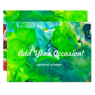 Green Parrot Watercolor Palette Invitation