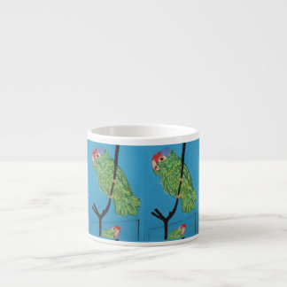 green parrots espresso mug 6 oz ceramic espresso cup