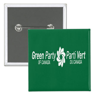 Green Party of Canada Parti Vert du Canada Logo 2 Inch Square Button