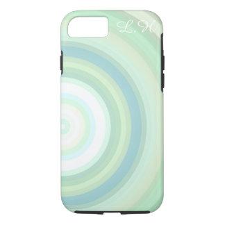 Green Pastel circles Monogrammed customizable iPhone 7 Case