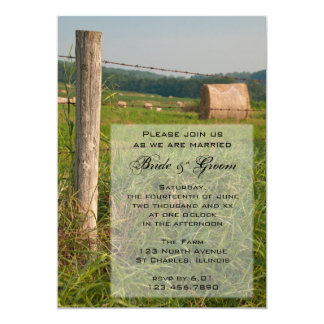 Green Pastures Country Farm Wedding Invitation