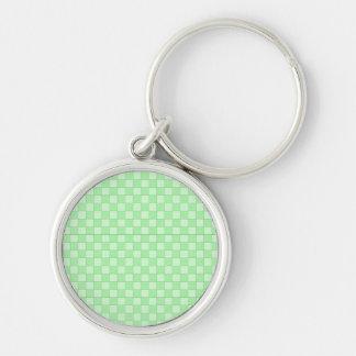 Green Patchwork Pattern Keychain