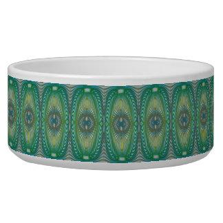 Green pattern dog bowl - Deck 8 Swirl