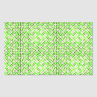 green pattern rectangle sticker