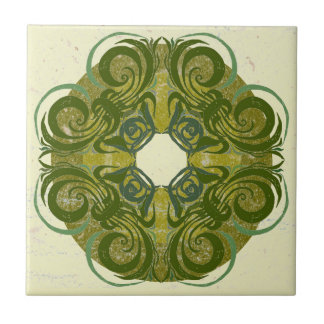 Green Pattern Retro Tiles