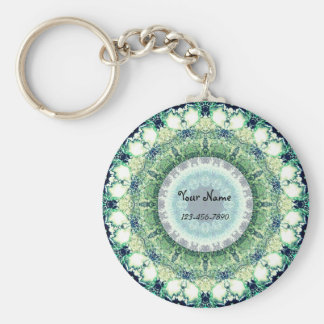Green Patterns Keychain