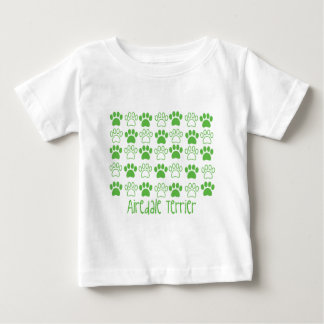 Green Paw by Paw Airedale Terrier Baby T-Shirt