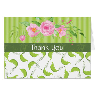 "Green Pea ""Baby Shower Thank You"" Card"