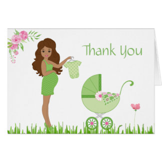 Green Pea Baby Shower Thank You Card