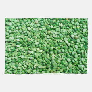 Green pea background kitchen towel