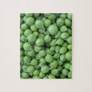 Green pea background . Texture of ripe green peas Jigsaw Puzzle