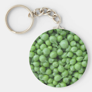 Green pea background . Texture of ripe green peas Keychain