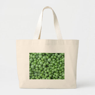 Green pea background . Texture of ripe green peas Large Tote Bag