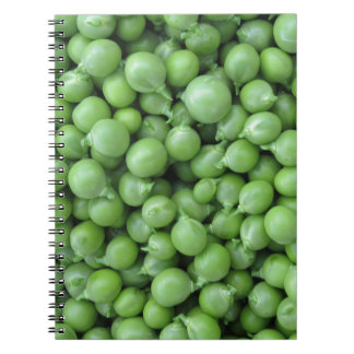 Green pea background . Texture of ripe green peas Notebook
