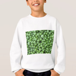 Green pea background . Texture of ripe green peas Sweatshirt