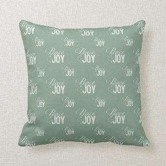 Green Peace and Joy Pillows