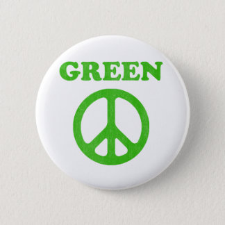 Green Peace (Earth Day) 2 Inch Round Button