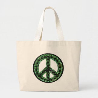 Green Peace Large Tote Bag