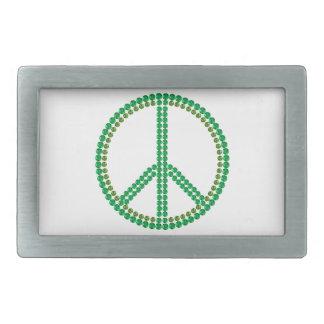 Green Peace Rectangular Belt Buckles