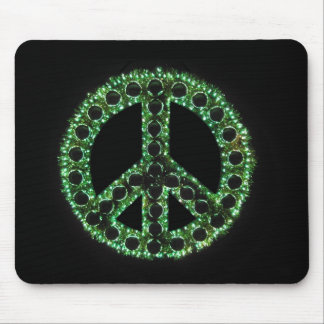 green peace sign mousepad