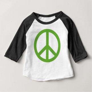 Green Peace Sign Symbol Baby T-Shirt